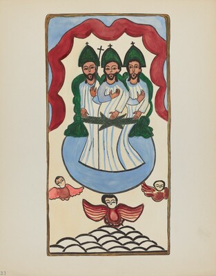 Plate 33: The Holy Trinity: From Portfolio Spanish Colonial Designs of New Mexico