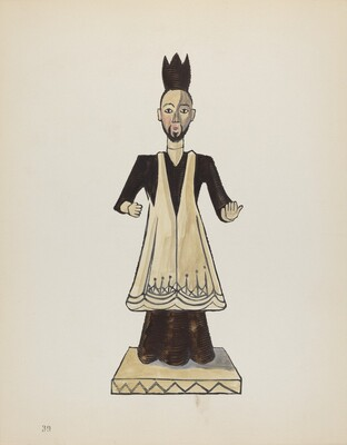 Plate 39: Saint John Nepomuk: From Portfolio Spanish Colonial Designs of New Mexico