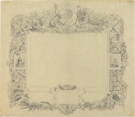 Design for a Border with a Portrait of Baron Cuvier