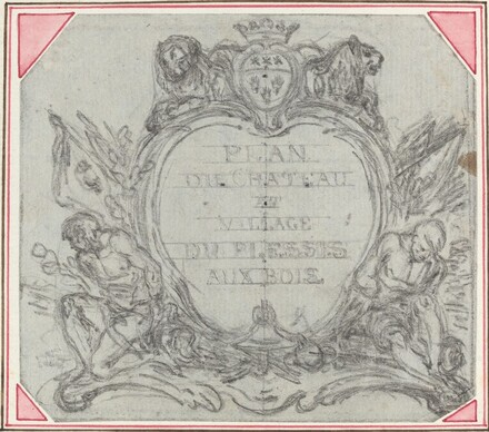 Title Cartouche for a Map of the Chateau and Village of Le Plessis aux Bois