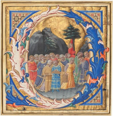 Initial Q with a Procession of Children