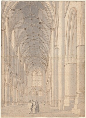 Interior of Saint Bavo's Church, Haarlem