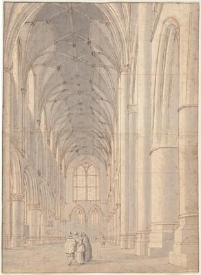 Interior of Saint Bavo's Church, Haarlem