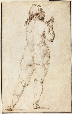 Female Nude Praying