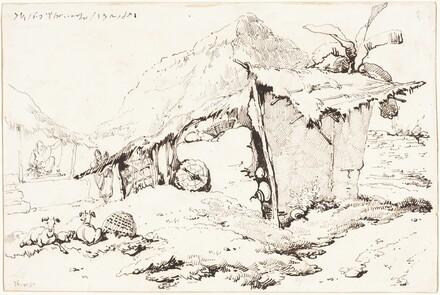 A Village Hut in India [recto]