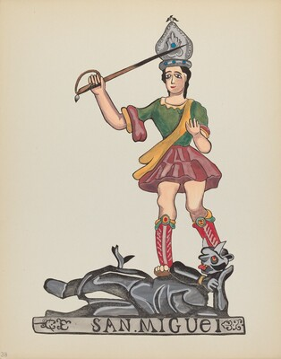 Plate 38: Saint Michael: From Portfolio Spanish Colonial Designs of New Mexico