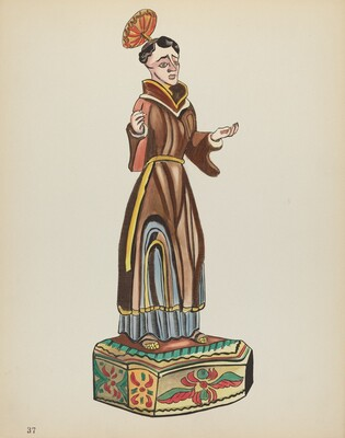 Plate 37: Saint Anthony: From Portfolio Spanish Colonial Designs of New Mexico
