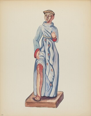 Plate 36: Saint Roch: From Portfolio Spanish Colonial Designs of New Mexico
