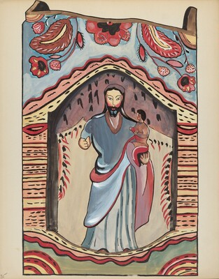 Plate 35: Saint Joseph in Wooden Niche: From Portfolio Spanish Colonial Designs of New Mexico