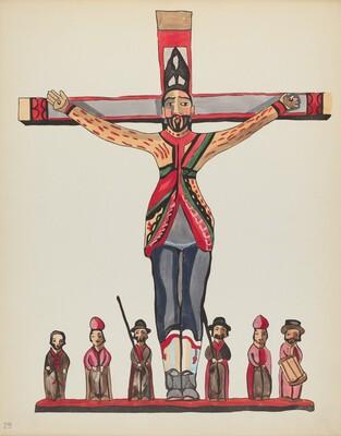 Plate 29: Saint Acacius: From Portfolio Spanish Colonial Designs of New Mexico