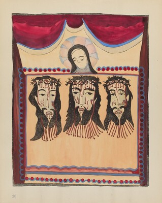Plate 20 (Variant): Saint Veronica: From Portfolio Spanish Colonial Designs of New Mexico