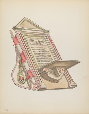 Plate 19: Reading Stand, Chimayo: From Portfolio Spanish Colonial Designs of New Mexico
