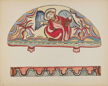 Plate 15: The Creation (Lunette): From Portfolio Spanish Colonial Designs of New Mexico