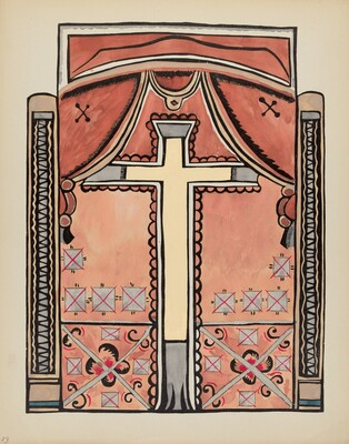 Plate 13: Design with Cross: From Portfolio Spanish Colonial Designs of New Mexico