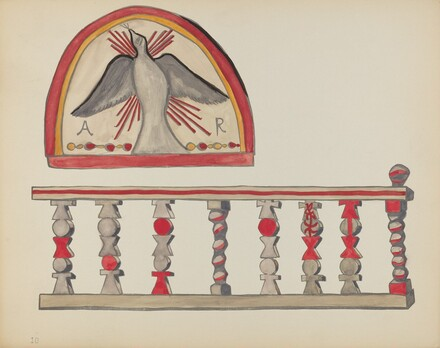 Plate 10: Holy Ghost (Lunette): From Portfolio Spanish Colonial Designs of New Mexico
