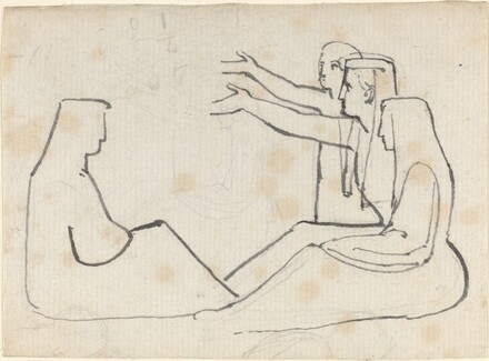 Four Seated Figures