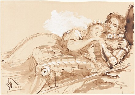 A Maiden Embraced by a Knight in Armor