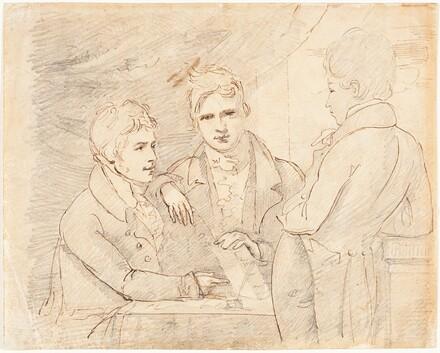 Young Gentlemen in Conversation