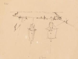 A Sailing Ship [verso]