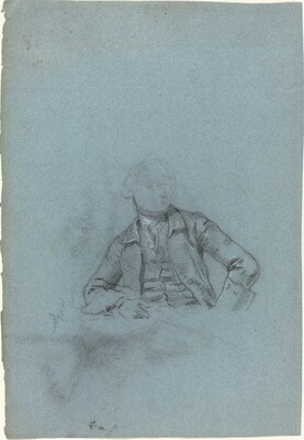 Study of a Seated Man [recto]