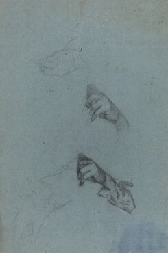 Hand Studies [verso]