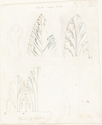 Ornamental Study with Acanthus Motif for The Stones of Venice