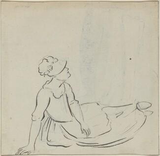 Girl with a Bonnet Reclining [verso]