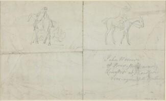 Mounted Horsemen [verso]