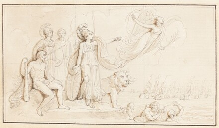 An Allegory of Britain's Naval Might