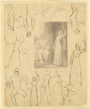 Design for a Book Illustration of Circe and Odysseus [recto]