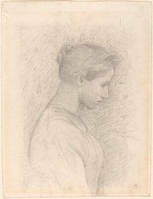 A Young Woman in Profile