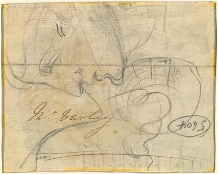 Study of a Head in Profile [verso]