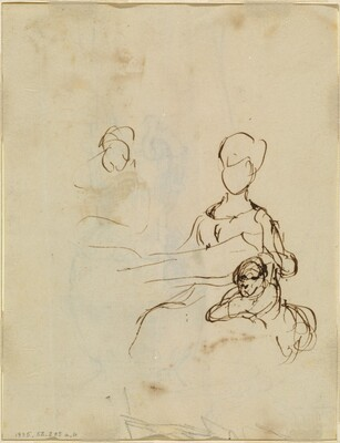 Study of a Mother and Child [verso]