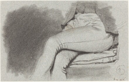 Study of a Seated Man's Legs