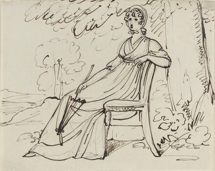 A Lady Seated with a Parasol