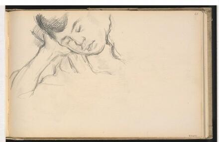 Figure Resting Head on Hand