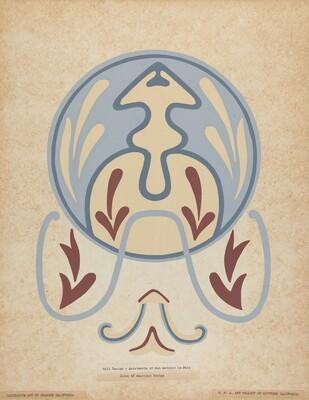 Asistencia of San Antonio de Pala Wall Design from the portfolio of Decorative Art of Spanish California