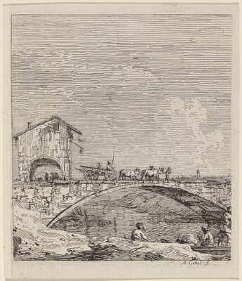 The Wagon Passing Over a Bridge