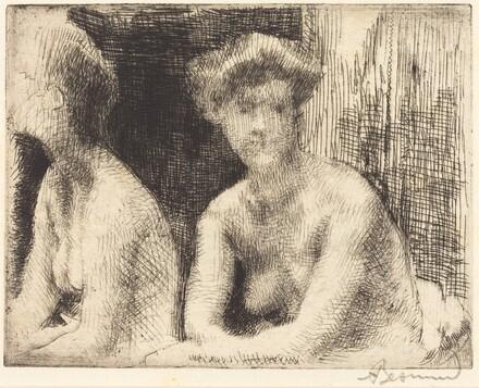 Nude Woman by a Looking Glass (Femme Nue Auprès d'une Glace)