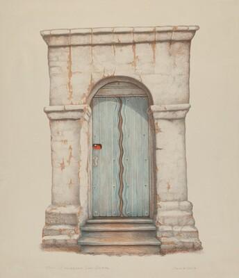 Doorway at Mission San Juan