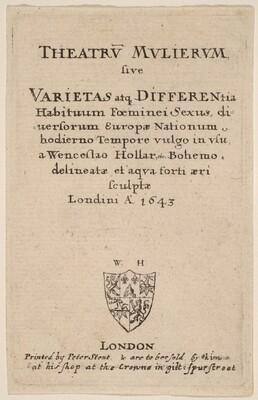 Theatrum mulierum: Title Page