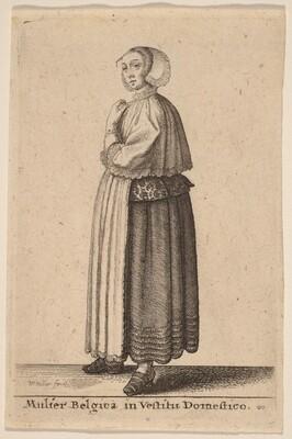 Mulier Belgica in Vestitu Domestico