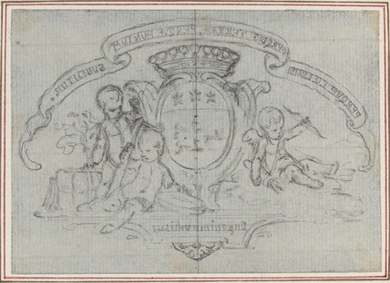 Coat of Arms with Three Putti
