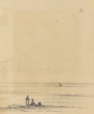 Figures on a Shore [verso]