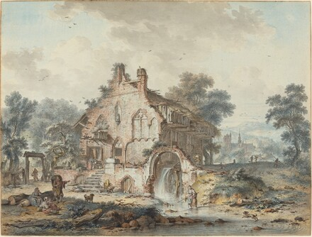 Rustic Watermill in a Gothic Ruin