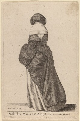 Nobilis Mulier Anglica, in Vestitu Hiemali