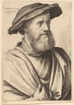 Man with Beard Looking Right (Hans Holbein?)