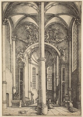 Interior of the Church of Saint Katherine with Parable of the Pharisee and the Publican