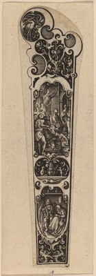 Handle for Knife or Fork, Ornamented with Figures