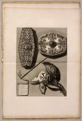 Trofei di Ottaviano Augusto Innalzati per la Vittoria ad Actium e Conquista dell'Egitto con Vari Altri Ornamenti Antichi